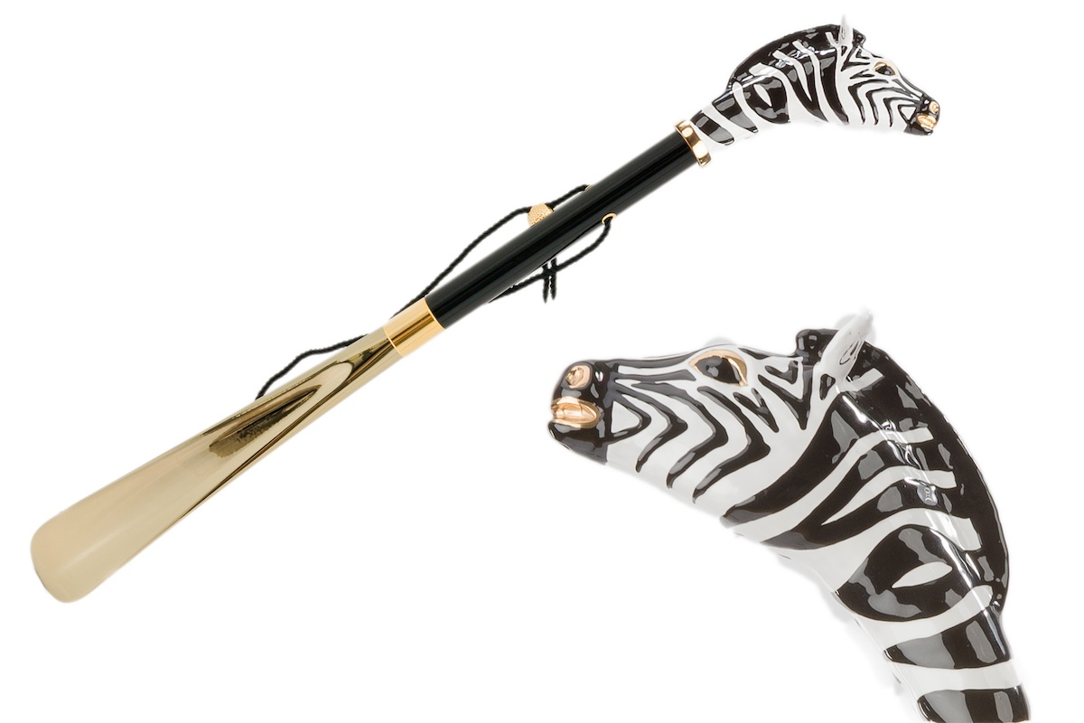 Pasotti shoehorn ZEBRA GOLD