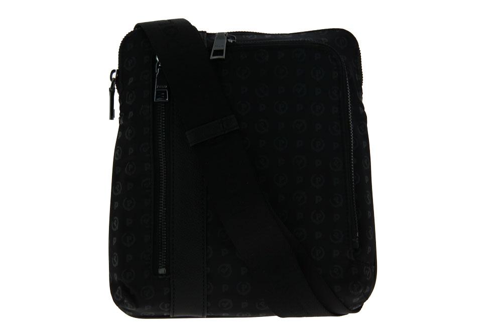 Pollini shoulder bag BORSA HERITAGE SOFT NYLON NERO
