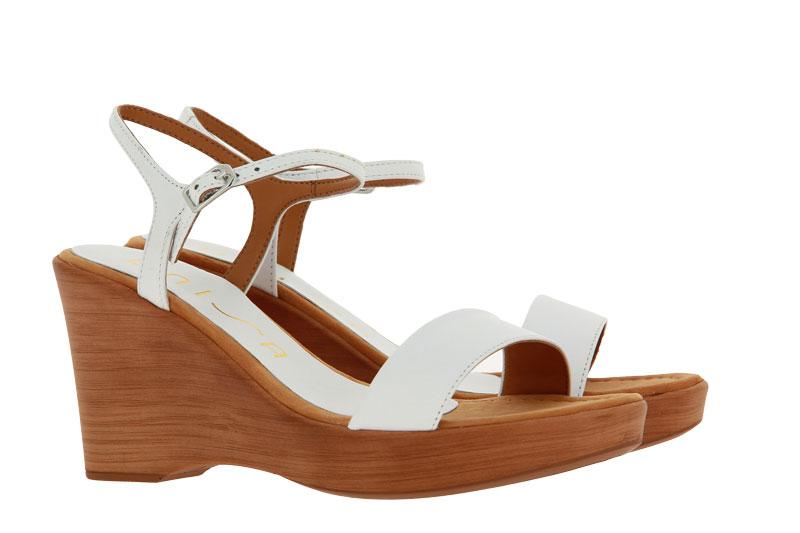 Unisa wedge sandals RITA NAPASLIK WHITE