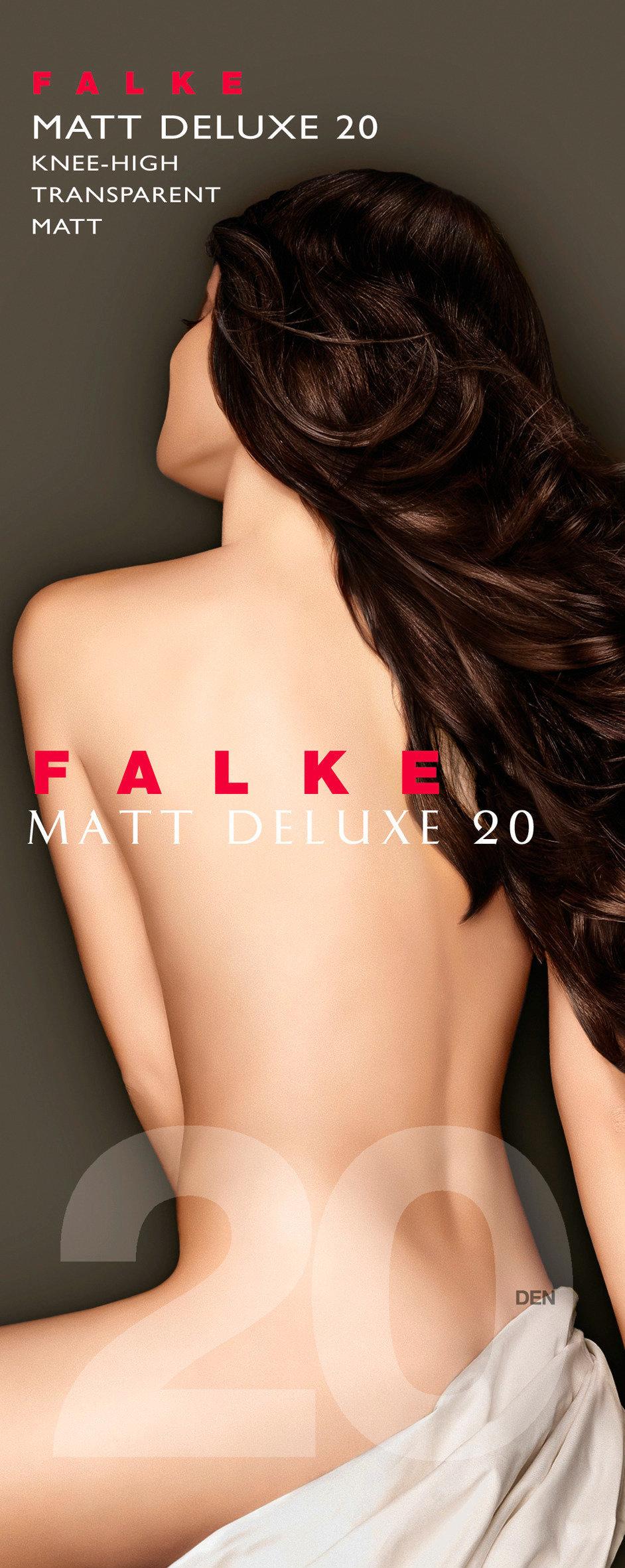 FALKE Matt Deluxe 20 DEN ladies knee socks ANTHRACITE