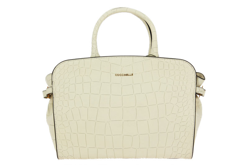 Coccinelle bag ELLA CROCO SOFT PRINT CHALK