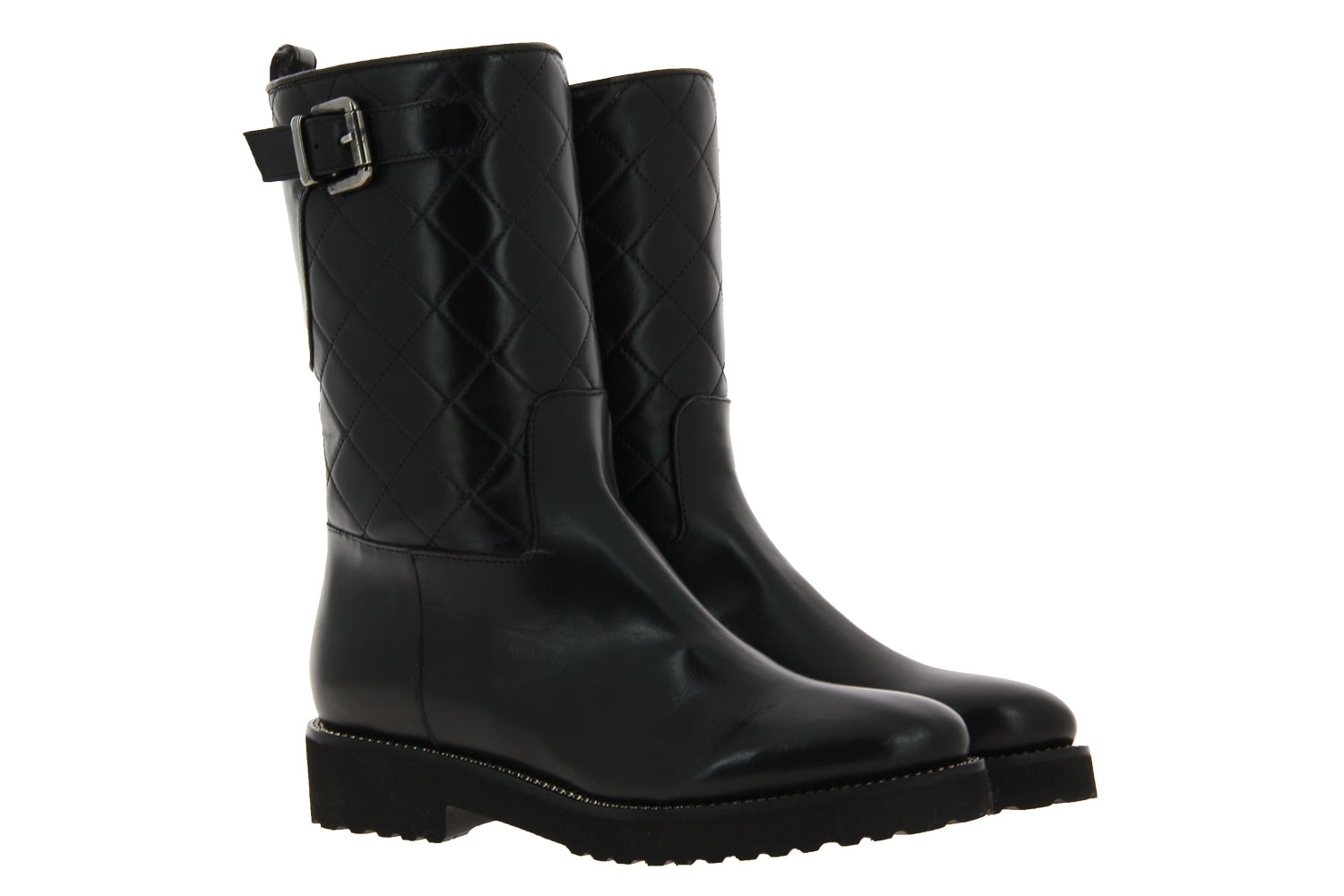 Luca Grossi boots lined NATUR NERO