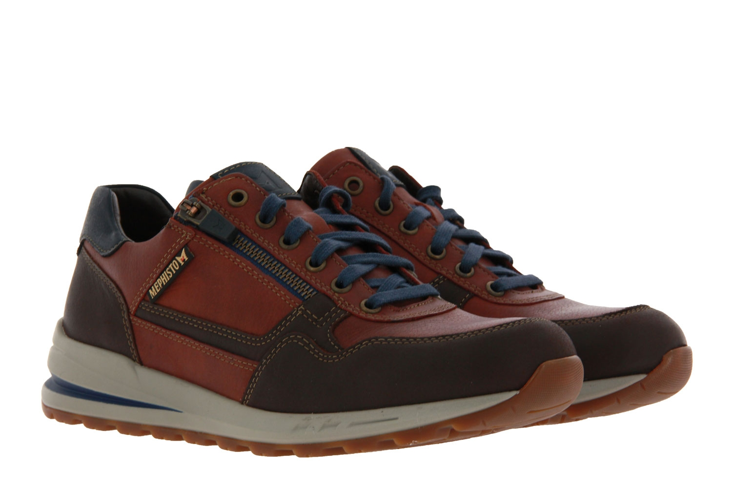 Mephisto sneaker BRADLEY VELOURSPORT DARK BROWN