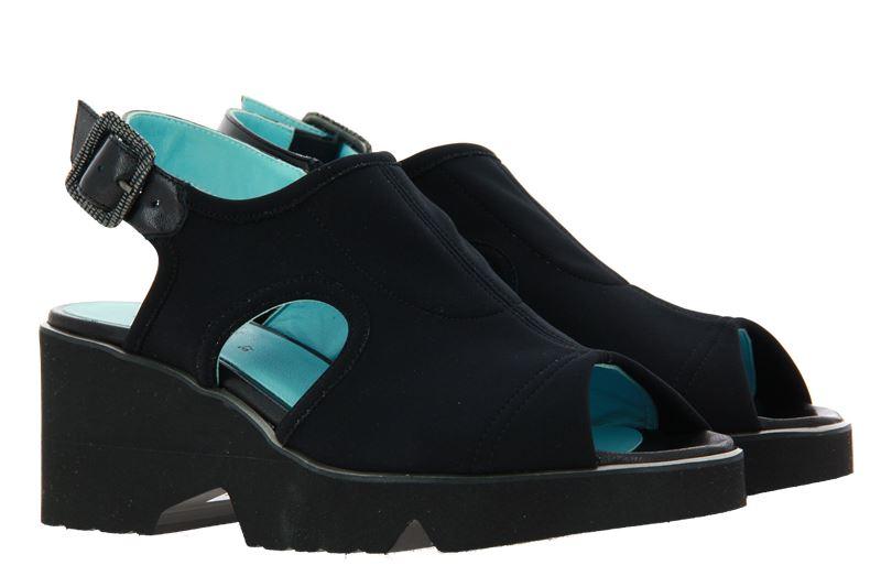 Thierry Rabotin wedge sandals BIRKIN NAPPA NERO