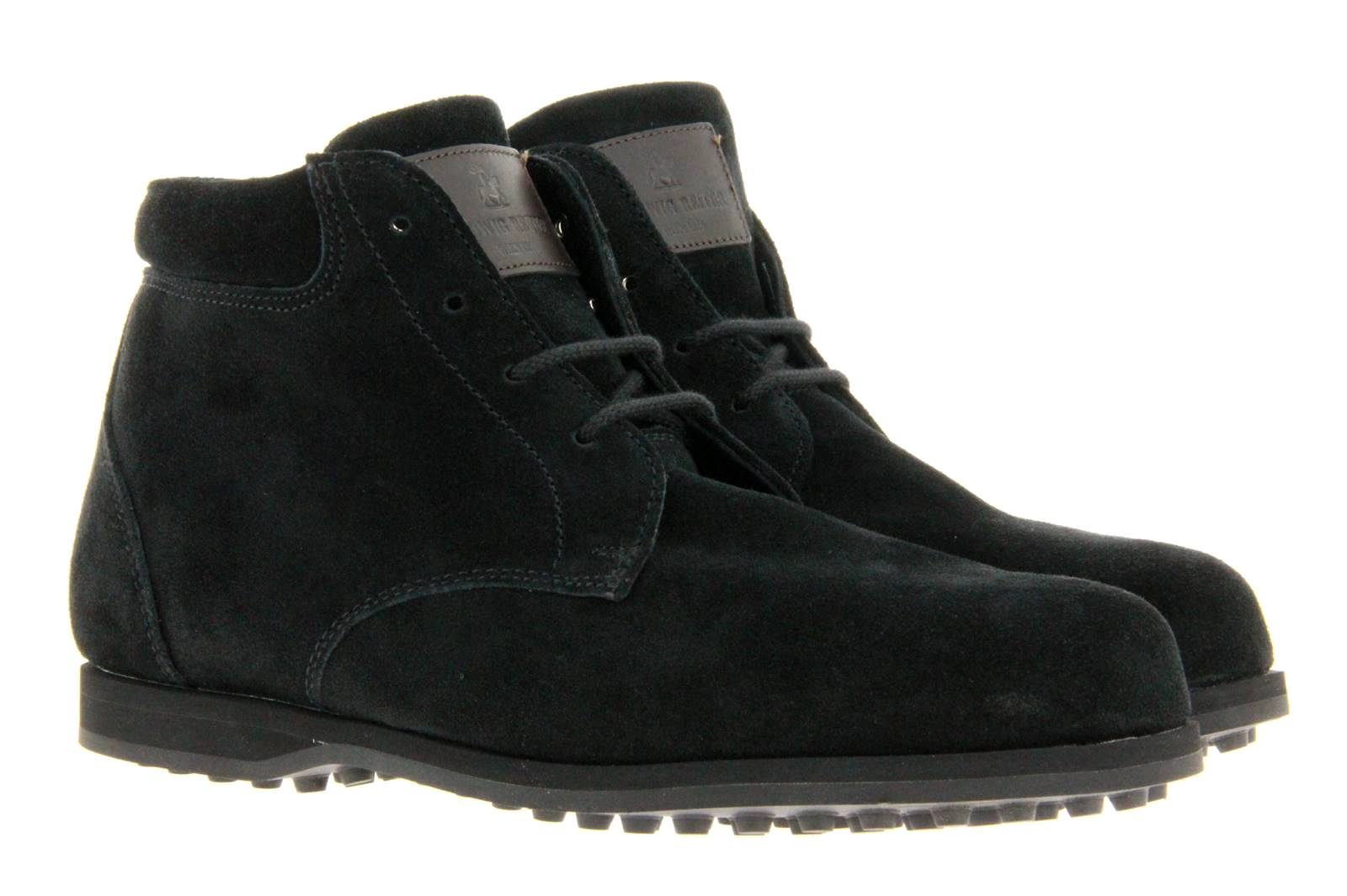 Ludwig Reiter lace-up ankle boots GRINZINGER SUEDE BLACK