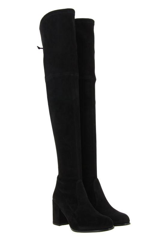 Stuart Weitzman overknee- boots TIELAND SUEDE BLACK