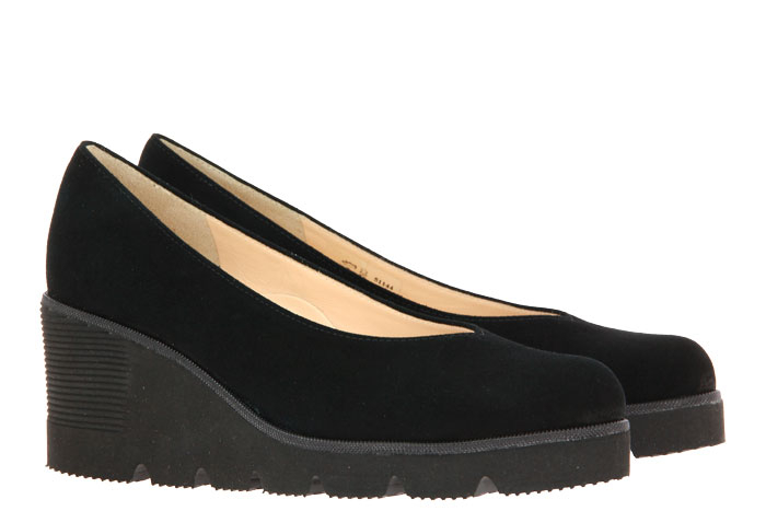 Brunate wedge slipper NEON CAMOSCIO NERO