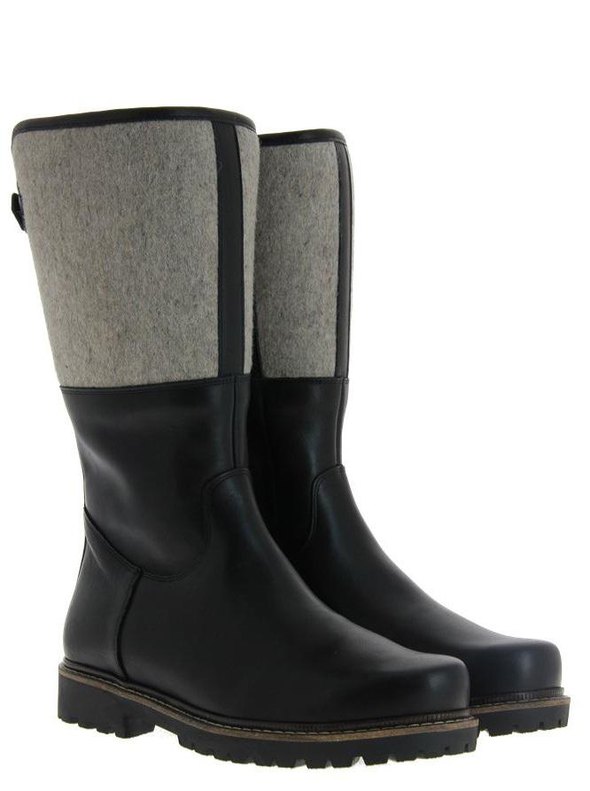 Dirndl + Bua boots lined PANIOLO FILZ SCHWARZ GRAU