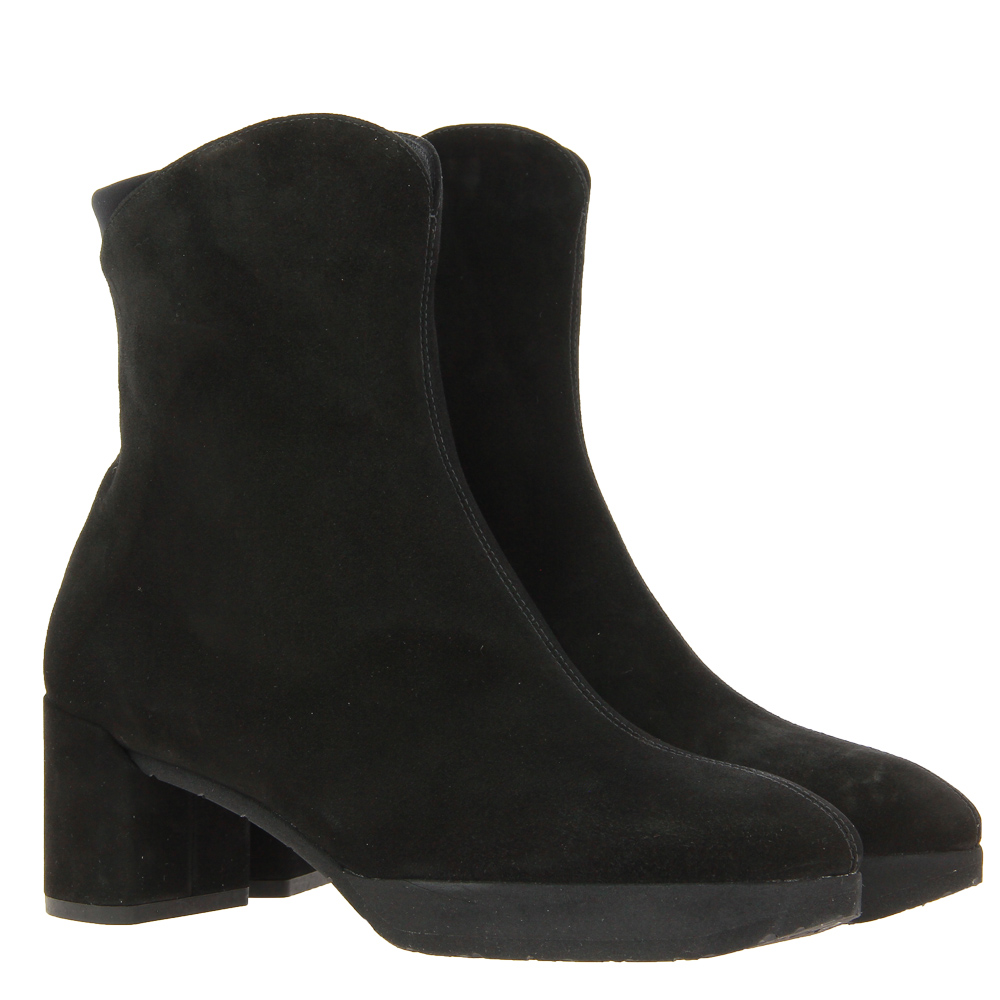 Thierry Rabotin ankle boots lined CAMOSCIO NERO