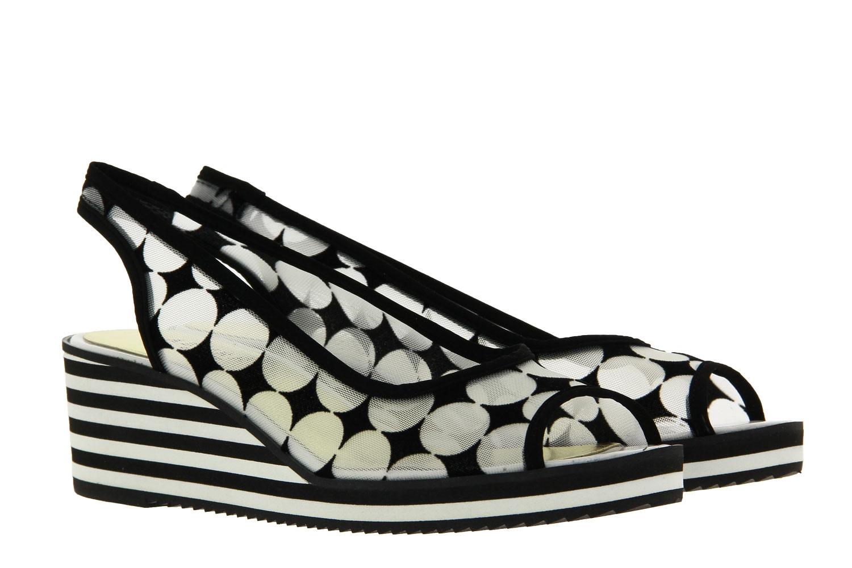 Azuree Cannes wedge sandal JONC 8BNB NYLANA ROUND VELOURS NOIR