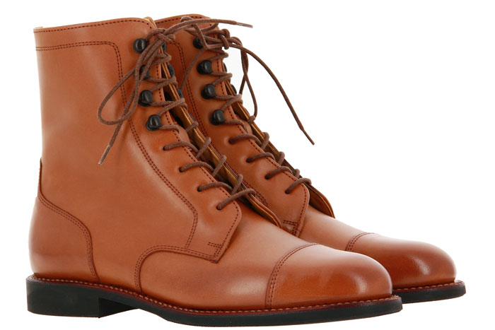 Ludwig Reiter lace-up ankle boots MARY POPPINS PATINA CALF COGNAC