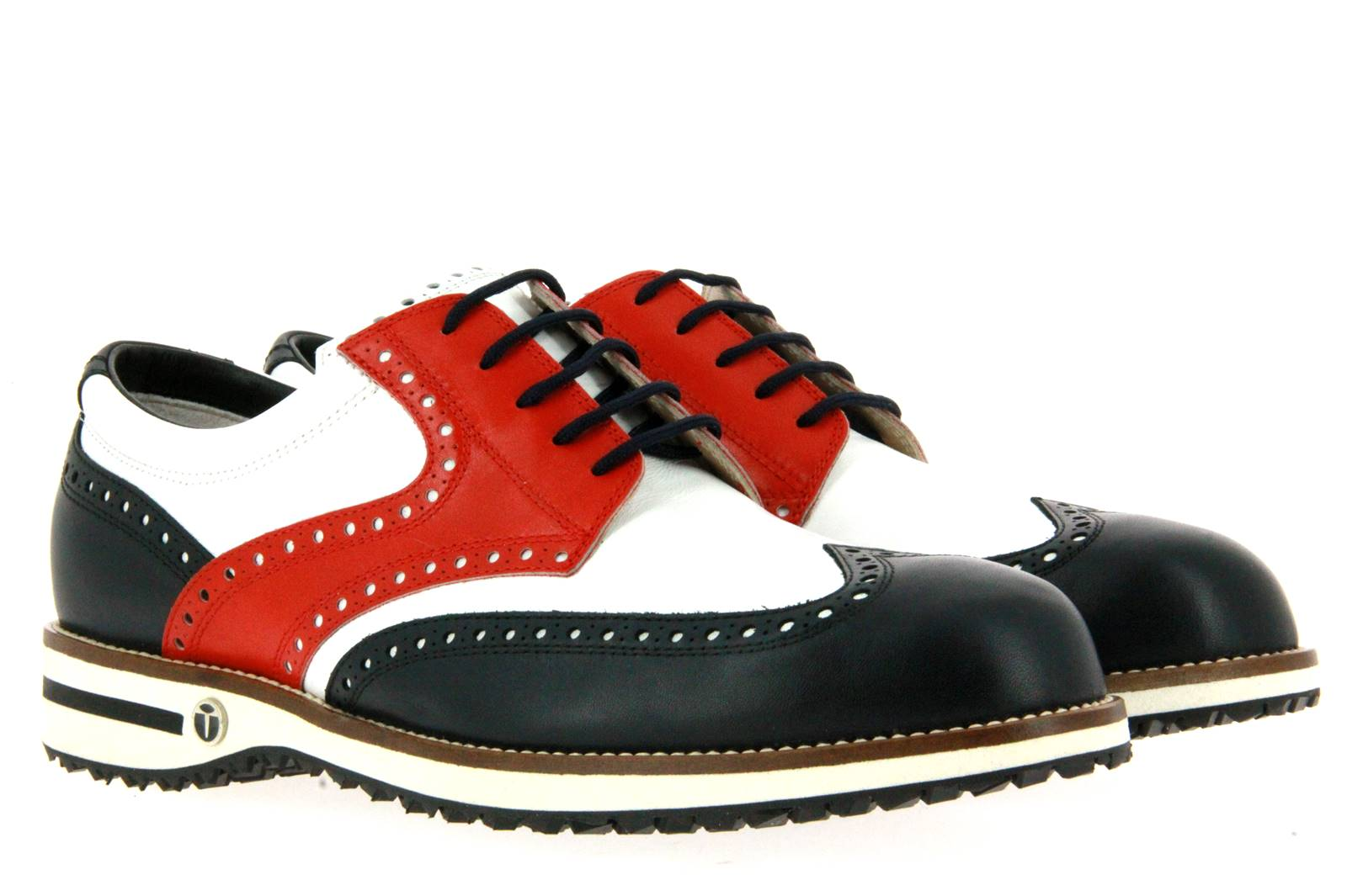 Tee Golf Shoes men's golf shoe TOMMY BLU BIANCO ROSSO MICRO N/B
