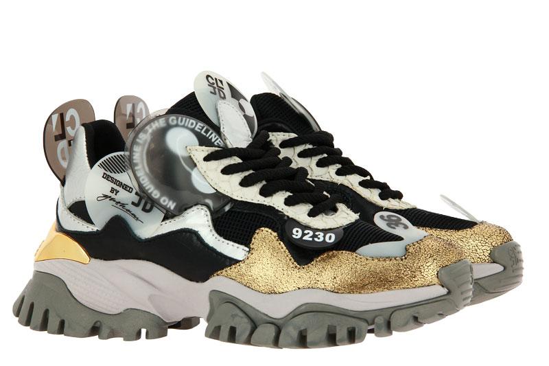 CLJD sneaker WHITE BLACK GOLD