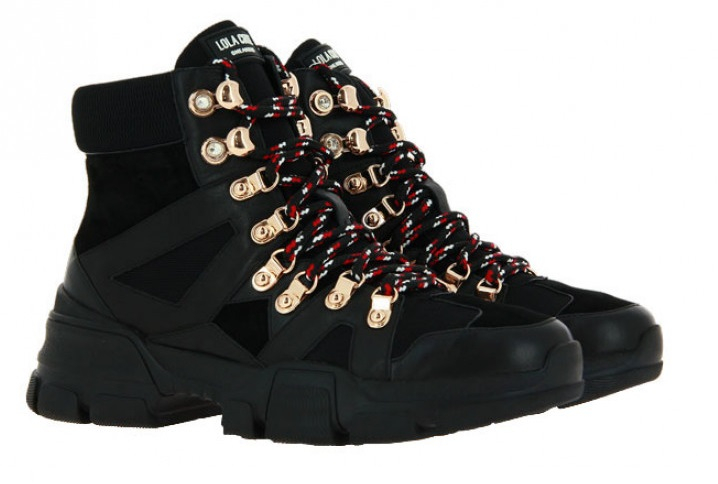 Lola Cruz ankle boots LEATHER NEGRO