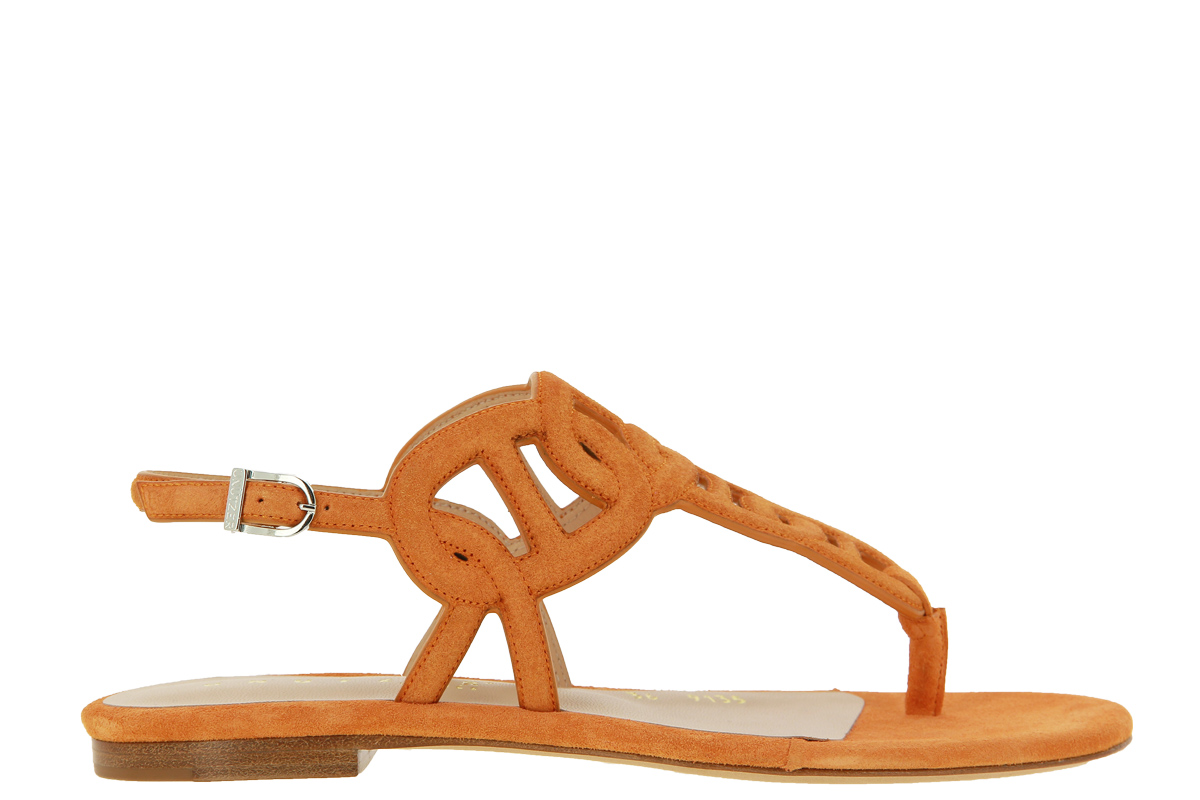 Unützer sandals VELOURS ORANGE