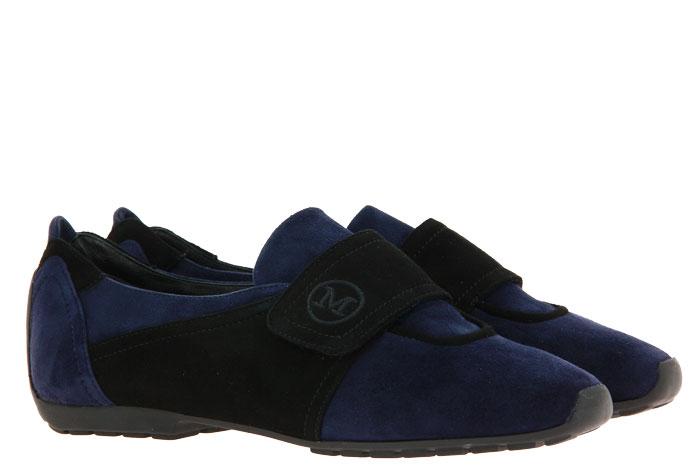 Mania Velcro shoe lined VELOUR BLUE NERO