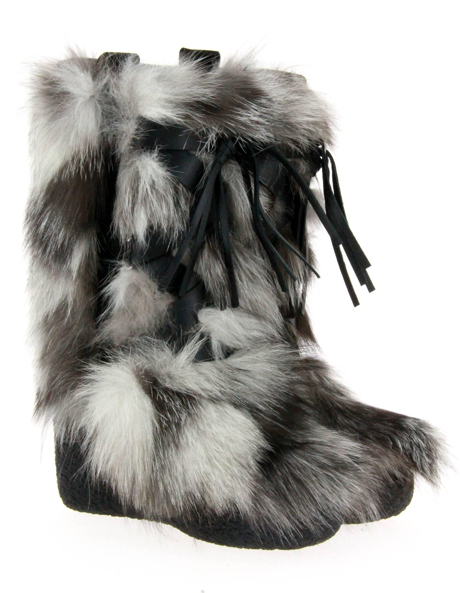 Diavolezza fur boots FROST FOX