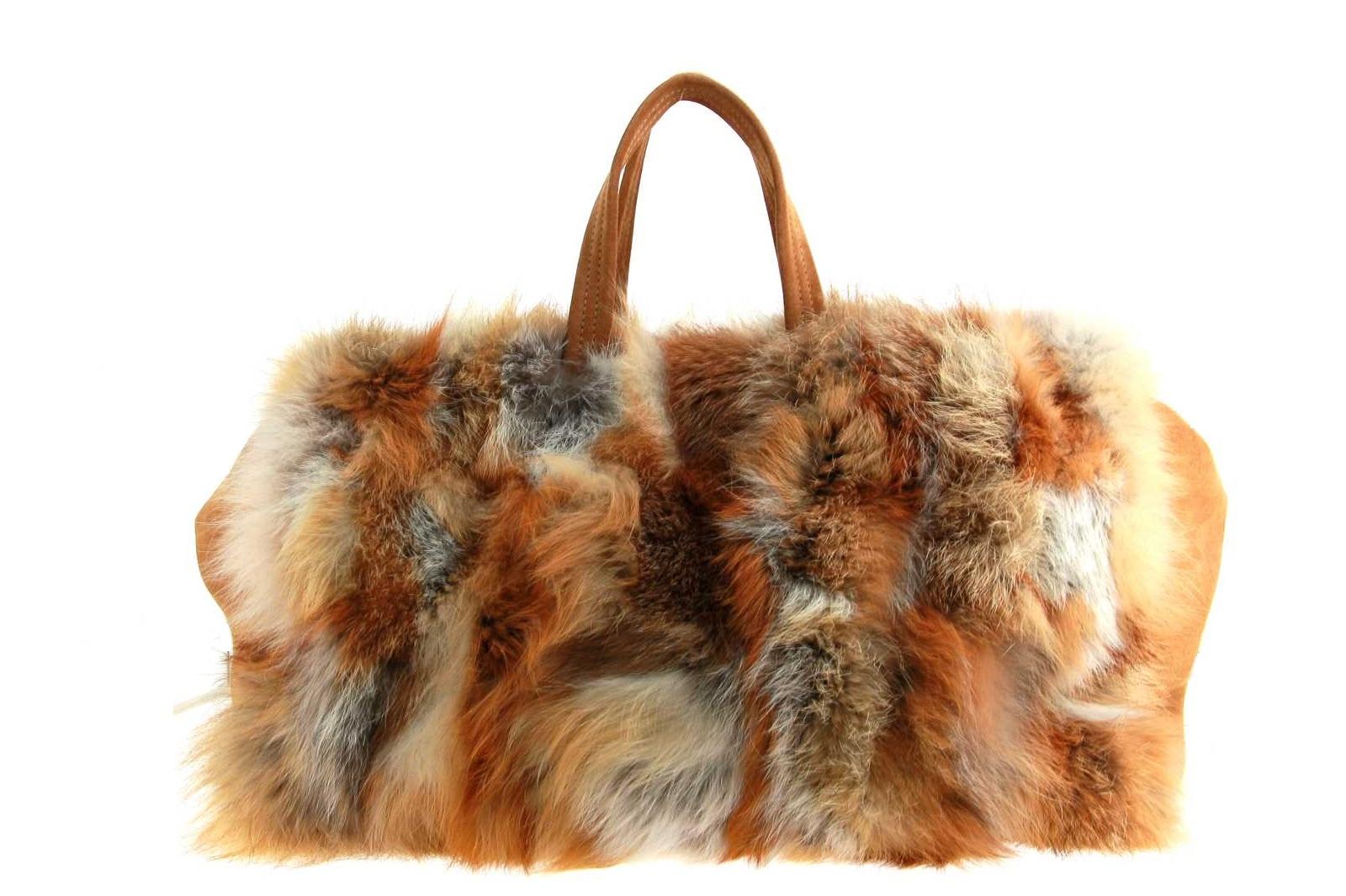 Oscar Sport fur bag FOX ROSSO
