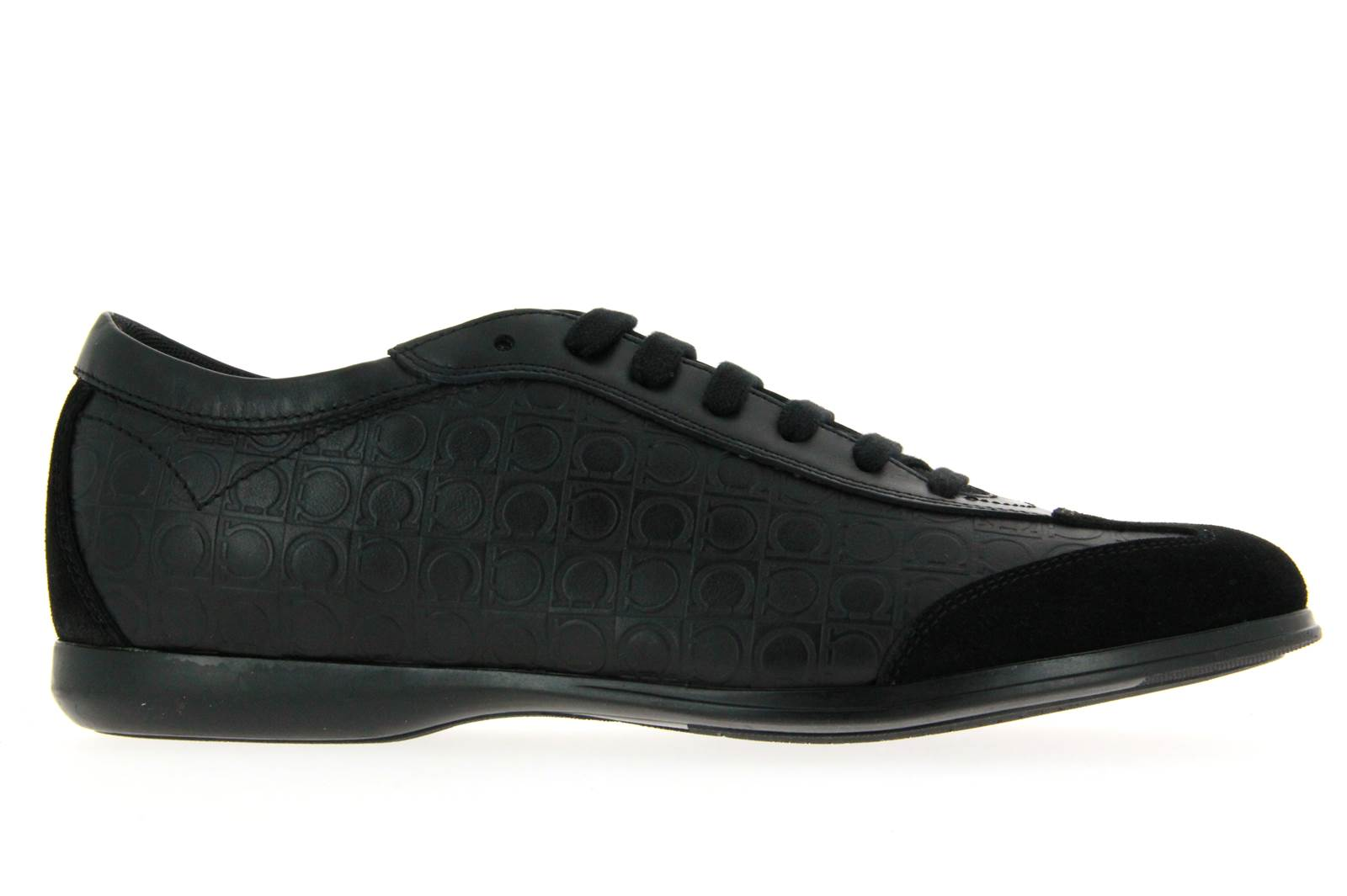 Salvatore Ferragamo Sneaker - FALKLAND NERO SUEDE CALF