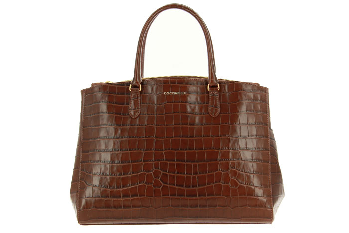 Coccinelle bag SORTIE KROKO BROWN