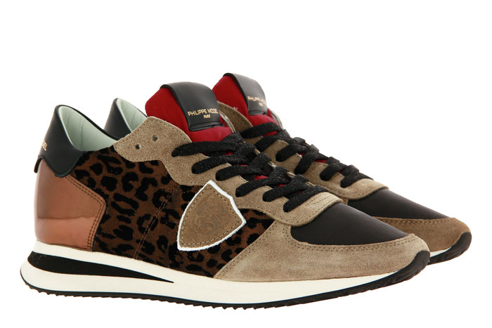 Philippe Model sneaker TROPEZ LEO FLOCK BEIGE BRONZO