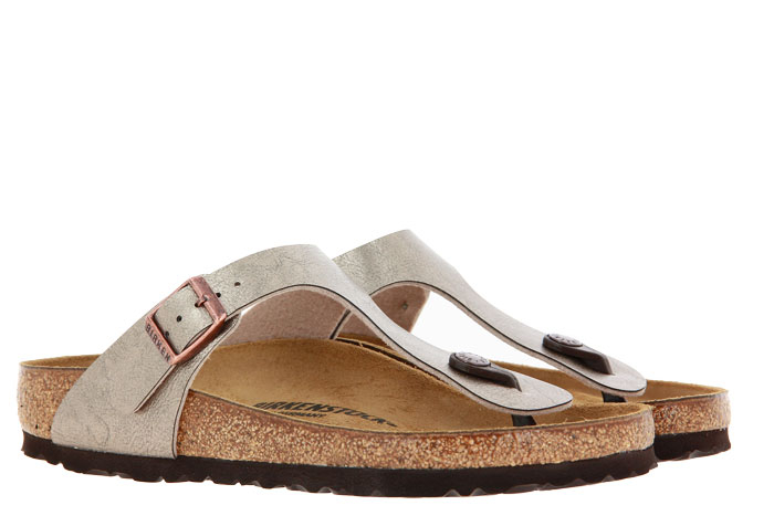 Birkenstock mules NORMAL GIZEH GRACEFUL TAUPE