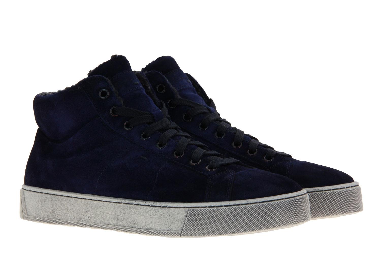 Santoni sneaker lined CAMOSCIO DARKBLU