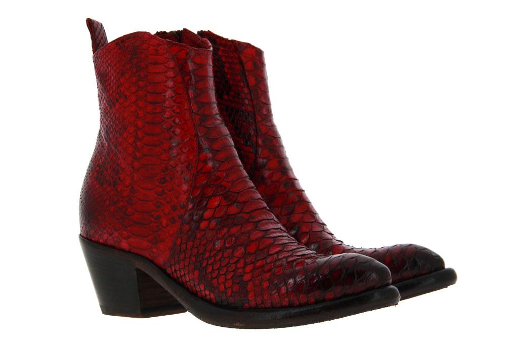 La Bottega di Lisa ankle boots PITONE ROSSO