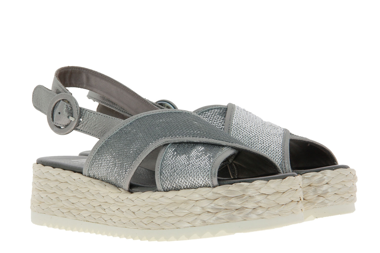 Pertini wedge sandals JIMMU SILVER