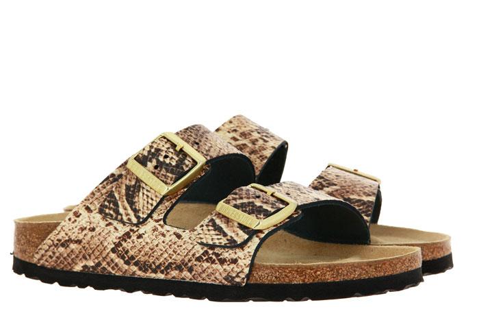 Birkenstock sandals ARIZONA SCHMAL BS SNAKE BEIGE