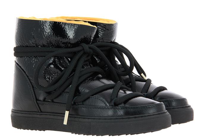 INUIKII sneaker boots PATENT BLACK YELLOW