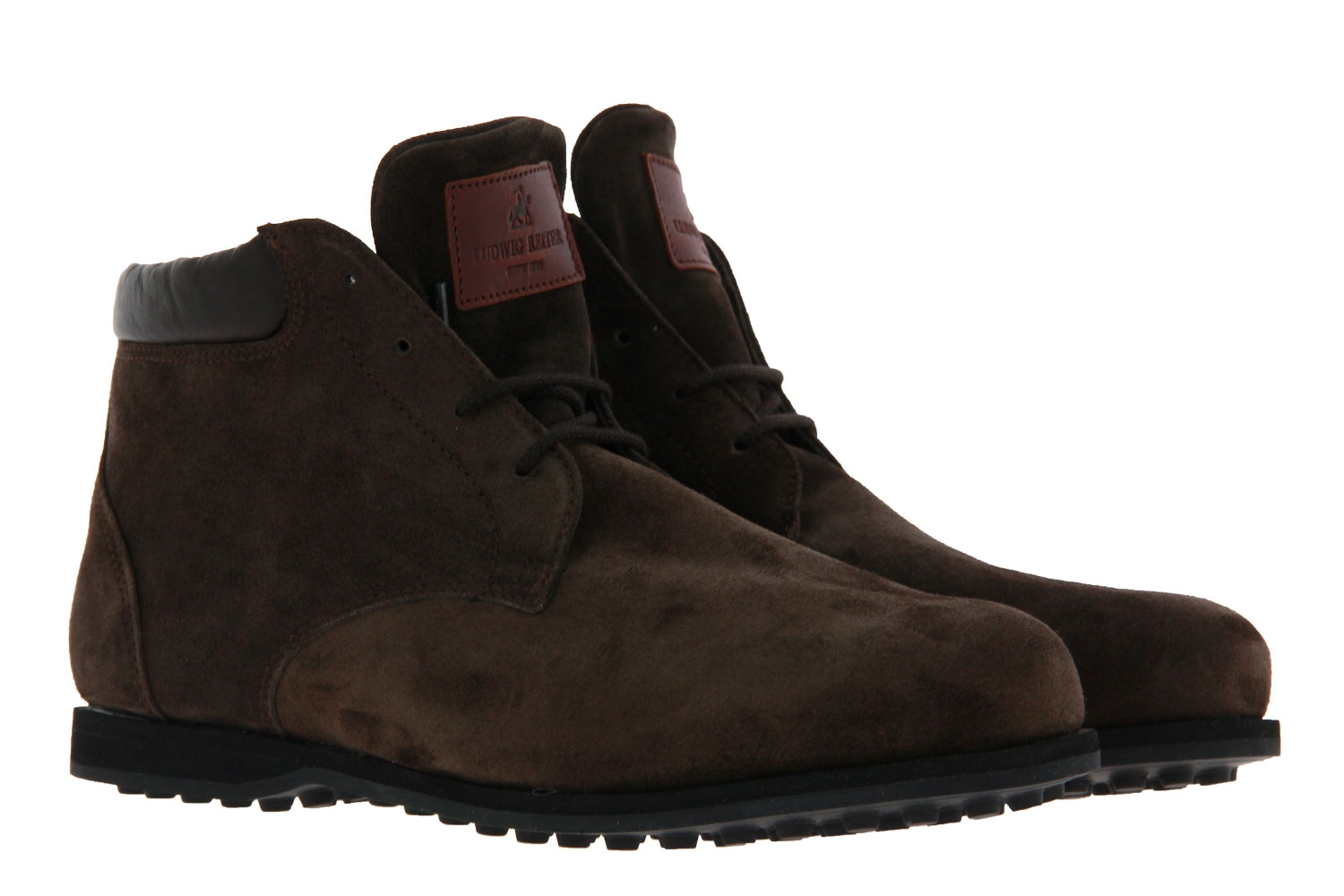 Ludwig Reiter lace-up boots lined GRINZINGER VELOUR DUNKELBRAUN