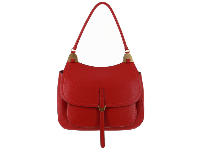 Coccinelle handbag FAUVE BORSA VITELLO RED