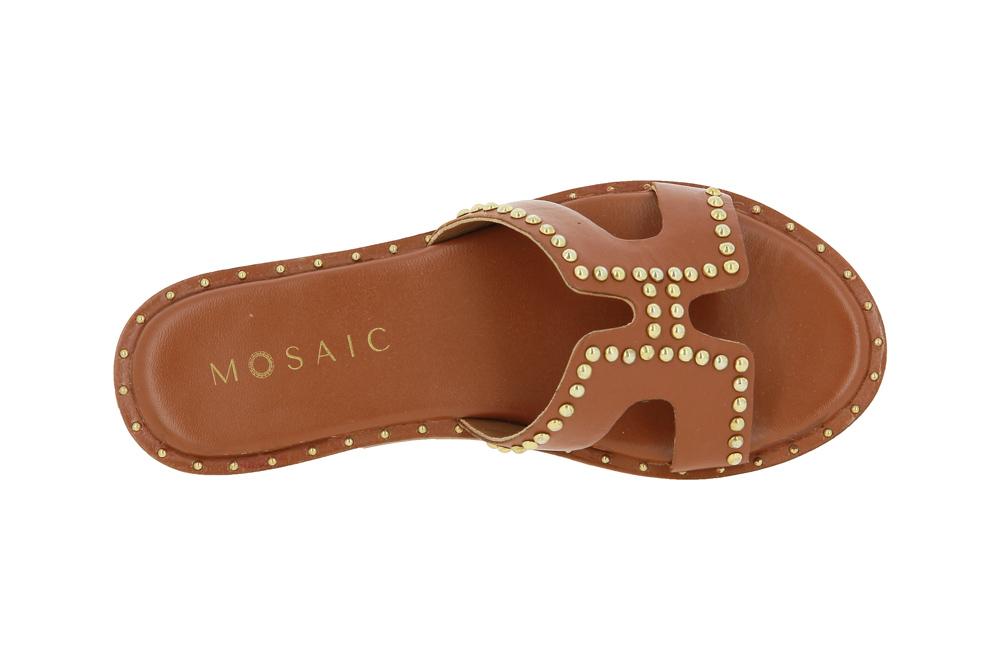 Mosaic mules ARANCIO TAN GOLD
