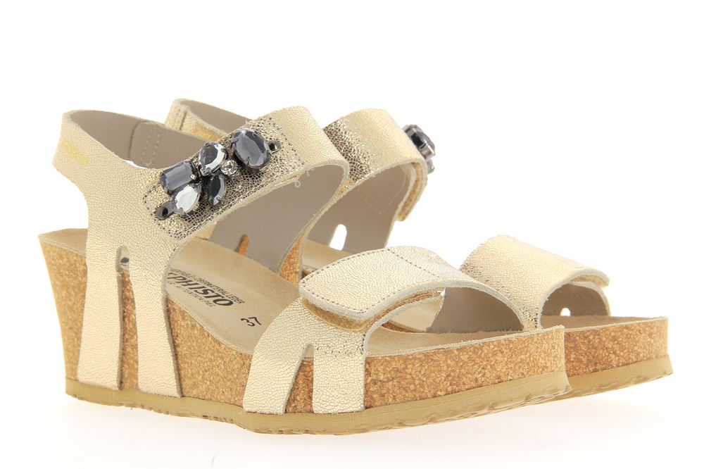 Mephisto sandals LOTTIE PLATINUM VERNISE LUNEL