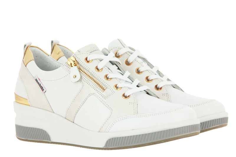 Mephisto wedge sneaker TRUDIE WHITE SILK MAGIC ORO