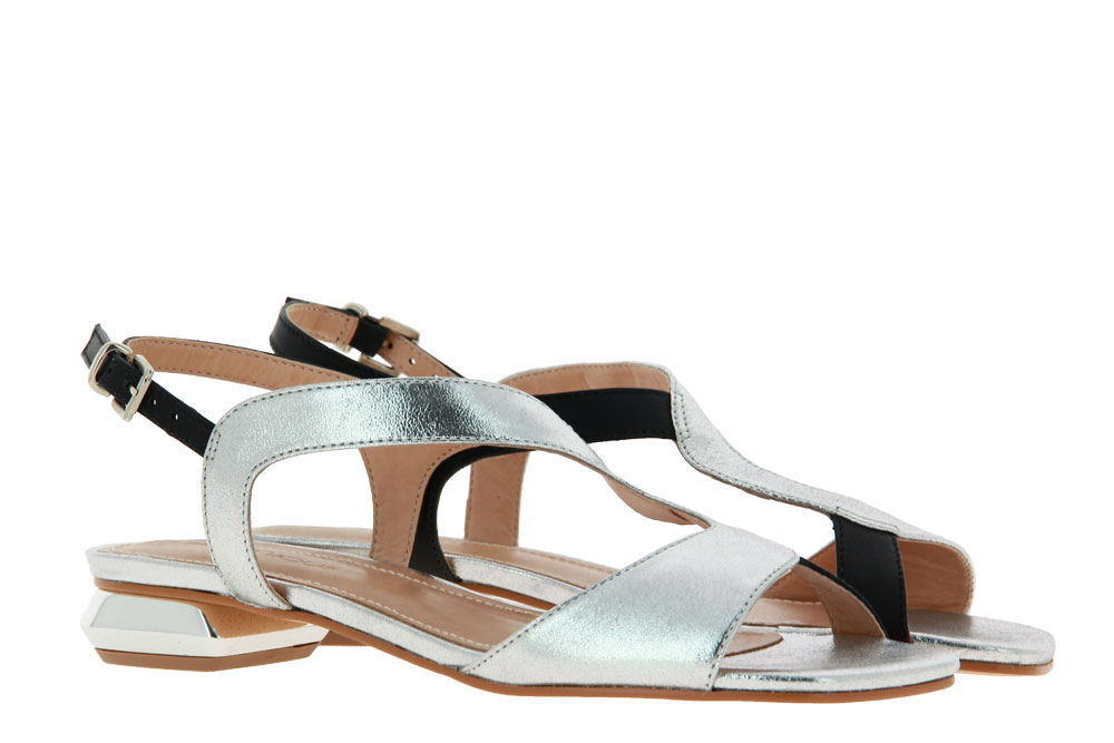 Unique sandals MARIANA CALF PRETO CRISTAL PRATA