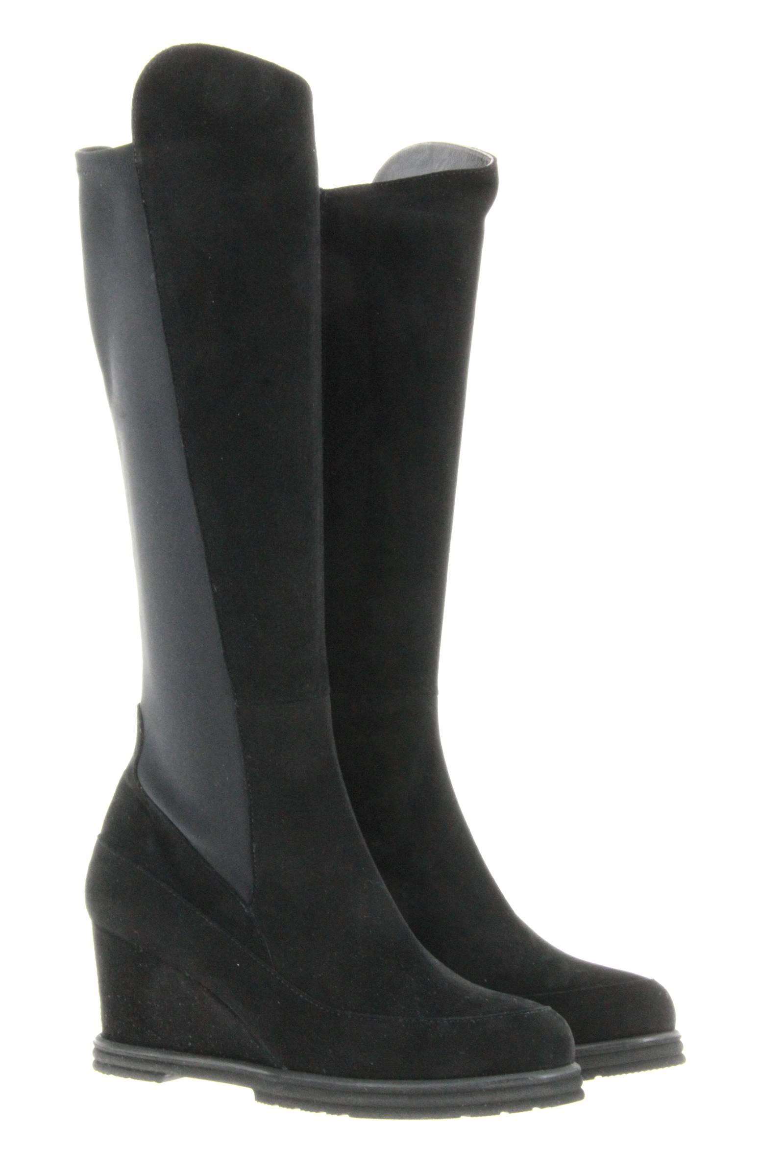 Brunate boots LUCY CAMOSCIO NERO