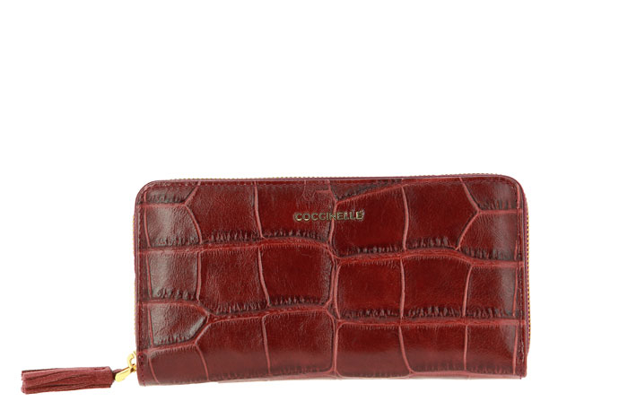 Coccinelle purse METALLIC CROCO BORDO
