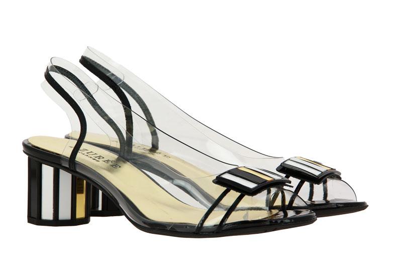 Azuree Cannes sandals MALIN VERNIS NOIR MOTIF METAL