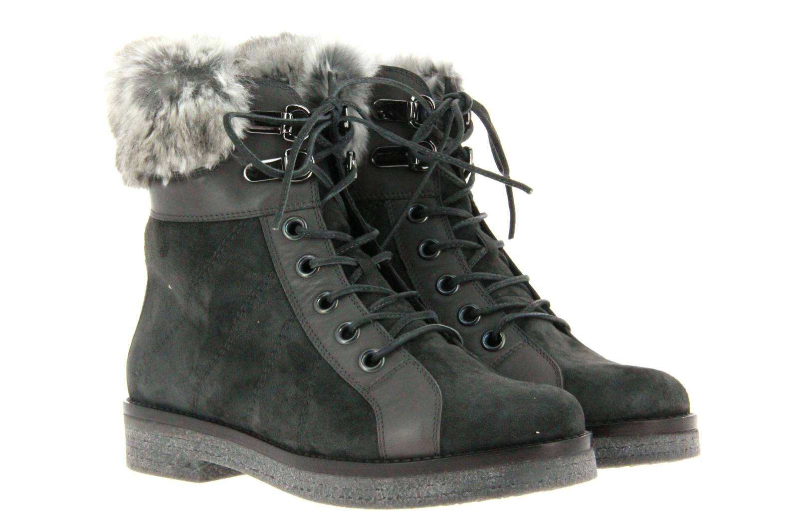 Baldan ankle boots lined CAMOSCIO ANTRACITE