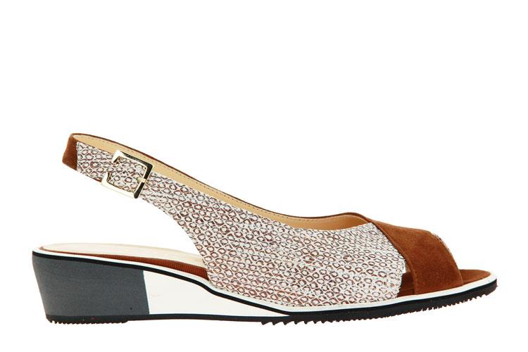 Brunate wedge sandals TELMA CAMOSCIO BRANDY GALLIC
