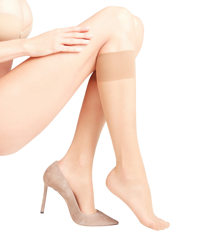 FALKE silk smooth 15 DEN ladies knee socks POWDER