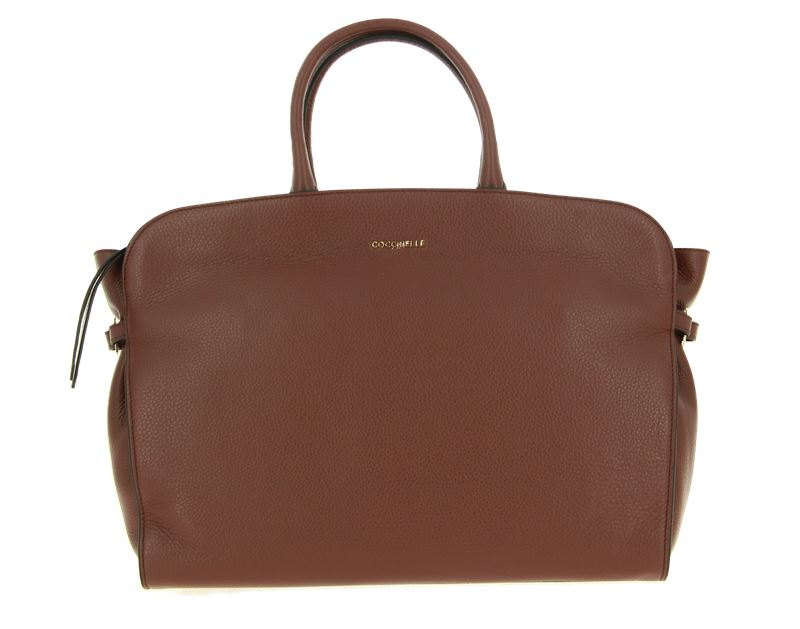 Coccinelle bag ELLA LEATHER CHOCOLATE