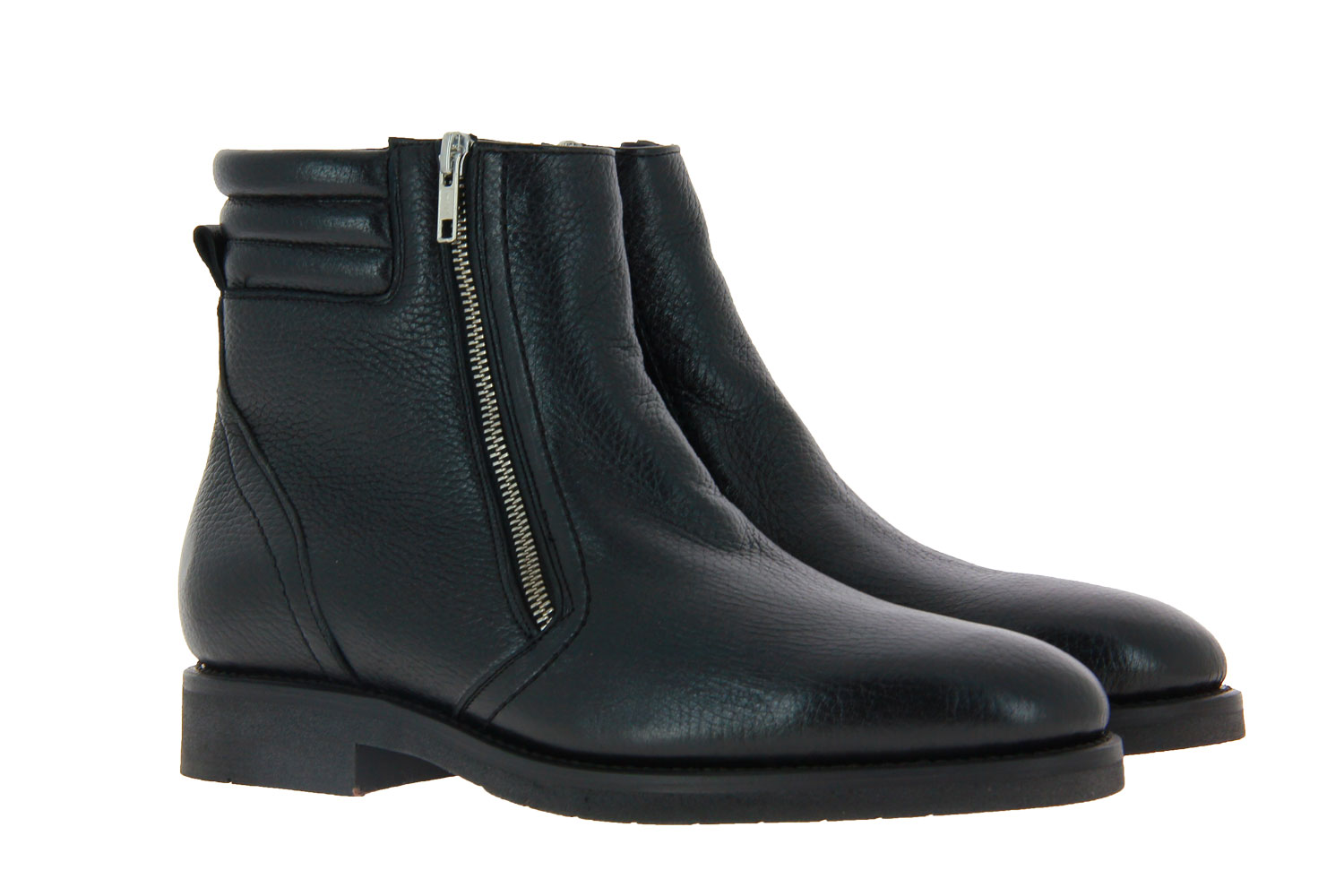 Cordwainer ankle boots lined DEERSKIN BLACK
