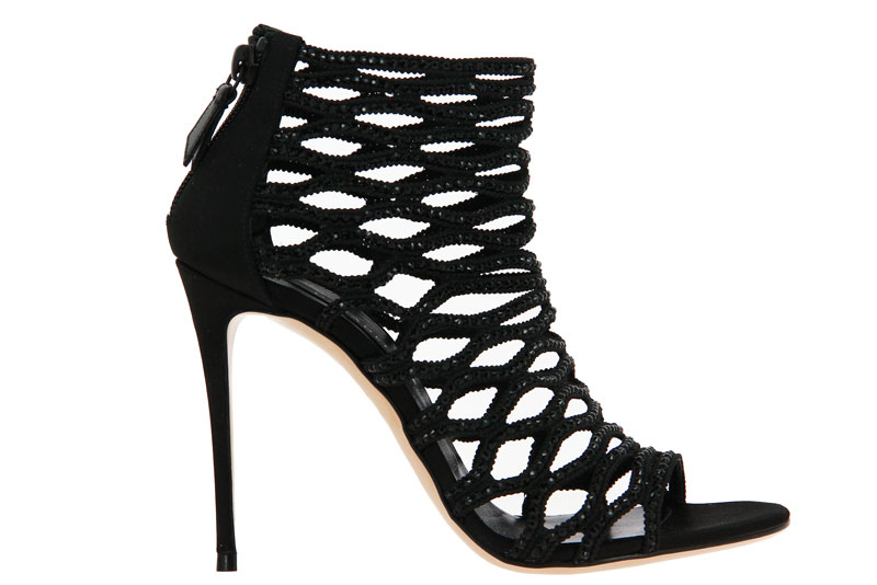 Casadei high heels PELLAME RASO NERO