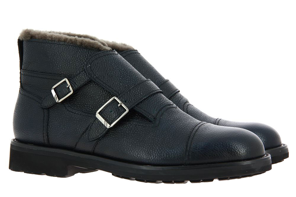 Moreschi ankle boots lined CALGARY BLU SCURO