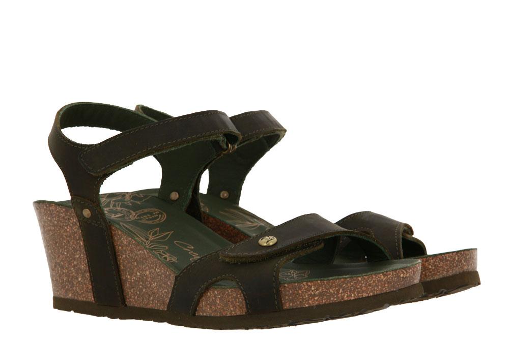 Panama Jack wedge sandals JULIA ROSES B9 NAPA GRASS KAKI