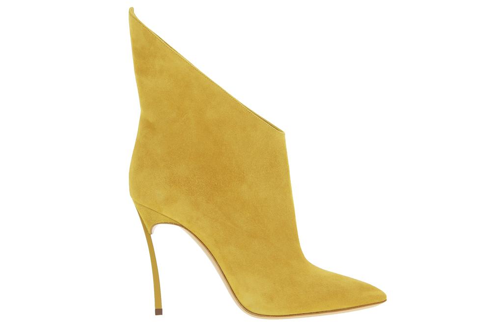 Casadei ankle boots BLADE CAMOSCIO ZAFFERANO