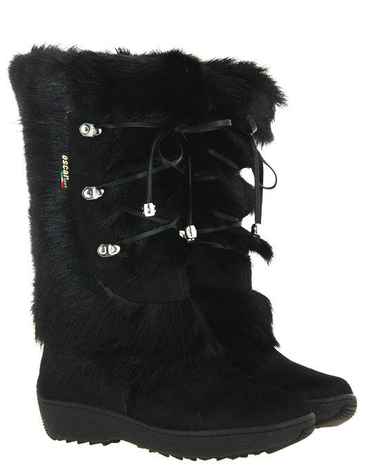 Oscar Sport fur boots CORINNE BLACK